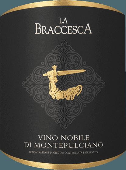 Vino Nobile di Montepulciano fra Tenuta La Braccesca imponerer med sin intense rubinrøde farve. Noter af ribs og brombær-, violet- og vaniljetoner og krydrede aromaer præger buketten. På ganen præsenteres fulde, runde og søde tanniner med intense bærsmag og elegant krydderi, tæt og struktureret, meget elegant, blød og afbalanceret. Finalen er lang med en fin mineralsk note i den lange eftersmag. Vinificering af Vino Nobile di Montepulciano fra La Braccesca 90% Sangiovese grosso, også kaldet Prugnolo gentile i dette område, og 10% Merlot er vinfremstillet til denne klassiske Vino Nobile. Sangiovese giver vinene elegance og aromaer, Merlot friskhed, god drikkelighed og aroma. Høsten for Sangiovese-druerne finder sted i begyndelsen af oktober, Merlot modner lidt tidligere. Efter den manuelle høst maser druerne i cirka ti dage, derefter hældes vinen i egetønder i forskellige størrelser, hvor den malolaktiske gæring finder sted efterfulgt af ældning i 12 måneder. Efter aftapning modnes Vino Nobile på flasken i endnu et år, inden den sælges. Fødevareanbefalinger til La Braccesca Vino Nobile di Montepulciano DOCG En klassiker af sin art, denne røde vino nobile, der passer perfekt til typiske toscanske retter med krydrede grøntsagsretter og gryderetter lavet af lam, oksekød eller vildt og middelaldrende og modne oste eller også kan nydes solo. Præmier til Vino Nobile di Montepulciano DOCG fra La Braccesca James Suckling: 91 point for 2016 Falstaff: 90 point for 2016 Wine Spectator: 92 point for 2015 James Suckling: 91 point for 2015 Vinentusiast: 91 point for 2015 Robert Parker: 90 point for 2015 Gambero Rosso: 2 briller til 2014 Vinøs Antonio Galloni: 92 point for 2014