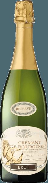 Crémant de Bourgogne Brut Réserve af Caves de Marsigny afslører en udtryksfuld, tør frugt med en livlig perle, en elskelig drikkelighed og en elegant struktur. Det er en særligt elegant kombination af de bedste burgunder-druer. Aromaen og finesserne af Chardonnay-druerne samt frugten og saften af Pinot Noir-druerne afrundes af den sarte smag af Aligoté-druerne. Det er en festlig og god drink. Denne premium mousserende vin med et strejf af rosé er et lækkert alternativ til champagne. Fødevareanbefaling til Crémant de Bourgogne Crémant de Bourgogne Brut Réserve fra Caves de Marsigny er perfekt som akkompagnement til en hel menu eller som en aperitif at nyde.