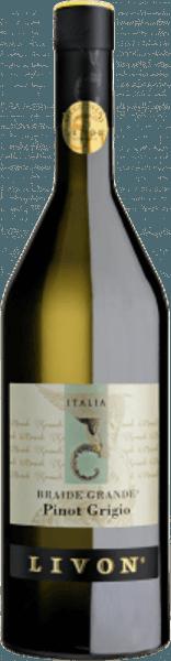 Braide Grande Pinot Grigio Collio DOC skinner intenst strågul i glasset, på næsen folder en buket med krydret og blomsteragtig aroma ud. På ganen tør, fyldig, næsten vild med antydninger af muskatnød i den lange finish. Vinificering af Braide Grande Pinot Grigio Collio DOC fra Livon Druerne til denne Pinot Grigio Cru fra Livon vokser i Braide-vingården nær Ruttars i kommunen Dolegna del Collio i det østlige Friuli på lerjordmjordjord af oceanisk oprindelse. Druerne plukkes kun manuelt, druerne bringes ind i vinkælderen i små kasser og macerated cold i den vandrette presse i otte timer, mosten bliver derefter klaret ved naturlig dekantering. Den efterfølgende gæring finder sted for 30% af vinen i franske barriques fra Allier og for 70% i rustfri ståltanke ved en kontrolleret temperatur på 10 ° C. Vinen dekanteres derefter ikke, men modnes i otte måneder ved en konstant temperatur i de samme beholdere, hvor den respektive gæring fandt sted. Ved slutningen af denne periode, er cuvéen dannet af de forskelligt modnet vine, aftappet og den færdige vin er harmoniseret i flasken butik for en yderligere periode, før det sendes på markedet kan opbevares i 6 til 10 år. Fødevareanbefalinger til Braide Grande Pinot Grigio Collio DOC fra Livon Nyd denne velsmagende hvidvin fra Friuli som en elegant ledsager til forretter med fisk, pasta og ris med fiskesauce eller saucer med hvidt kød, generelt hvidt kød såsom fjerkræ eller mælkekød og braiseret fisk. Præmier for Braide Grande Pinot Grigio Collio DOC af Livon Gambero Rosso: 2 briller til 2015 Duemilavini AIS - 4 druer for 2001-2003