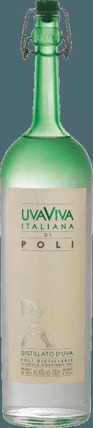 Uva Viva Italiana di Poli af Jacopo Poli er en frisk, livlig druebrand, der destilleres fra druesorterne Malvasia (60%) og Moscato (40%). I glasset præsenteres dette mærke i en klar, gennemsigtig farve. Den delikat frugtagtige buket er kendetegnet ved intense noter af modne abrikoser, saftige pærer og blomsterhint af appelsinblomst. Denne italienske druebrandy overbeviser på ganen med en frisk konsistens og en livlig krop. Destillation af Uva Viva Italiana di Poli Malvasia- og Moscato-druerne gæres først i tanke af rustfrit stål ved en kontrolleret temperatur. Denne vin destilleres derefter traditionelt sammen med druerne i gamle kobberstillere. Efter destillationsprocessen har denne druebrand stadig 75 volumenprocent. Ved at tilsætte destilleret vand opnår Uva Viva Italiana di Poli et alkoholindhold på 40 volumenprocent. Denne druebrændevin hviler derefter i tanke i rustfrit stål i mindst 6 måneder, inden den forsigtigt filtreres og derefter hældes på flasken. Serveringsanbefaling til Uva Viva Italiana di Poli Jacopo Poli Nyd denne druebrandy fra Italien ved en temperatur på 10 til 15 grader som fordøjelsesmiddel efter en lækker menu eller med desserter som abrikostert.