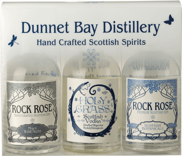 Rock Rose Gin Miniatur Triple Gift Pack - Dunnet Bay Distillery