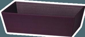 - klassisk gavekurv i aflang form - åben bølge, indeni og ude viola - 33 x 19 x 11 cm Vi kan også sammensætte en gavekurv til du Træuld fyldt og pænt pakket i klar folie. Spørg os, vi giver dig gerne et tilbud.